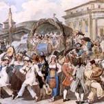 Carnevale à Roma auf der Piazza del Pantheon (Moritz c. 1840)