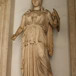 Minerva, the Roman goddess of wisdom, the arts and warfare (2nd c. marble statue)