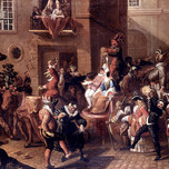 A Carnival Parade with Masked Figures (Bergaigne 17th c.)