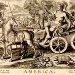 America from The Four Continents (Goltzius 1595)