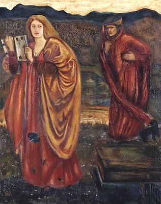 Merlin and Nimue from-le-morte-darthur (