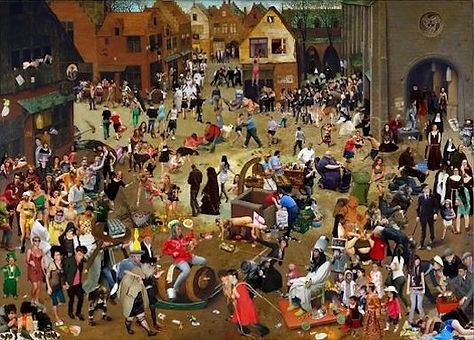 Battle between Carnival and Lent (modern