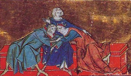 First Kiss between Lancelot and Guinever
