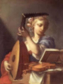 Art of Music_Young Woman Playing a Lute
