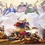 Apotheosis of Washington detail of Columbia-Liberty at war (Brumidi)