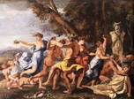 Bacchanal Before Statue of Pan (Poussin 1631)