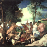 Bacchanal of Andrians (Titian c. 1623)