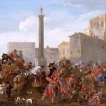 Carnival in the Piazza Colonna Rome (Miel 1653)