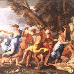 Bacchanal Before Statue of Pan (Poussin 1633)