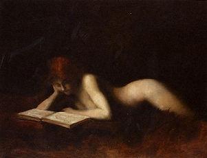 Reclining Nude Woman Reading A Book (Hen