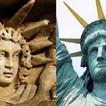 Goddess Libertas and Statue of Liberty