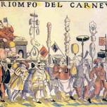 The Triumph of Carnival (Italian woodcut 16th c.)