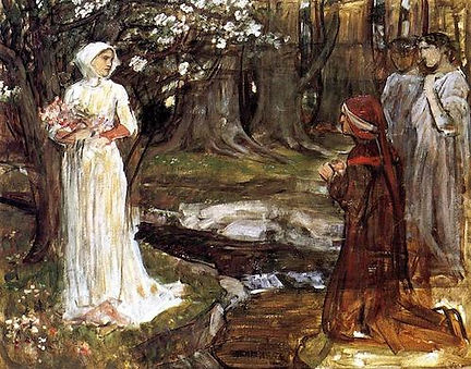 Dante and Beatrice (Waterhouse, 1914).jp