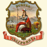 Minerva on California State Coat of Arms (1876)