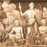 America & History (Goddess Columbia as America with Liberty Cap)