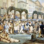 Carnival Scene at San Carlo al Corso Rome (Pinelli 1822)