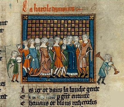 Lover's Dance (Roman de la Rose, 14th).j