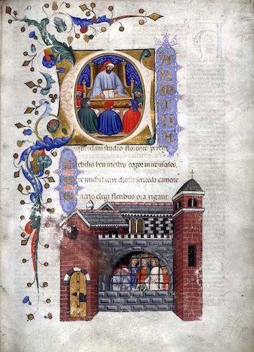 Boethius teaching and prison (1385).jpg
