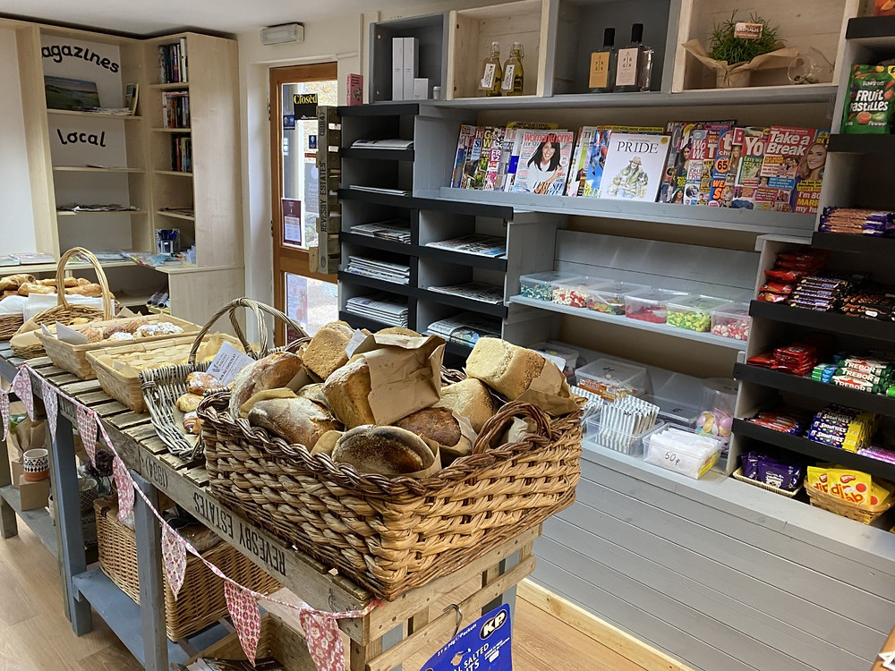New shelving at Tealby Village Shop