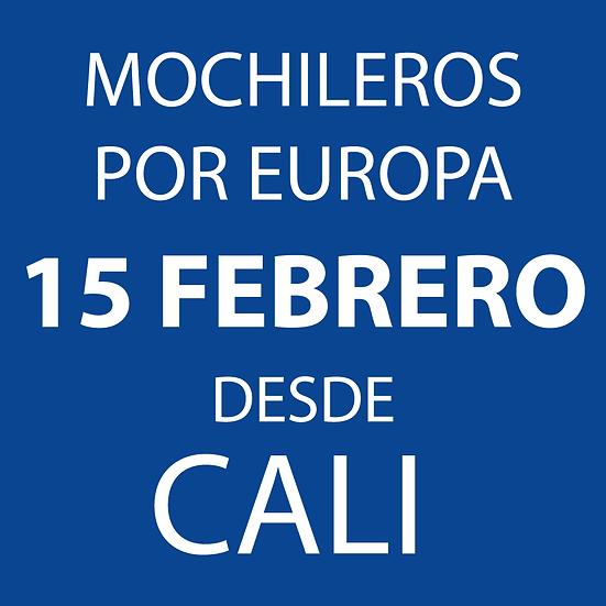 Mochileros por Europa desde Cali - Salida 15 Febrero