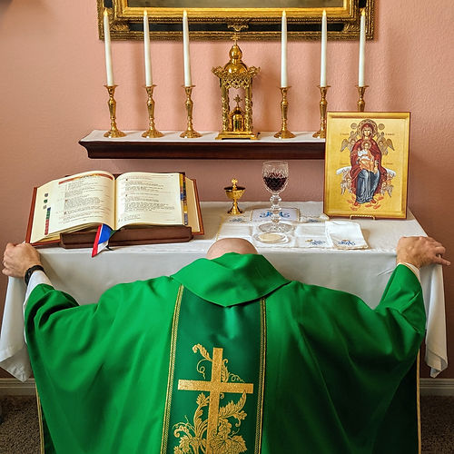 Father at Christ's Holy Altar