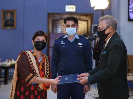 Pakistan President Arif Alvi Honors HOPE With Medal