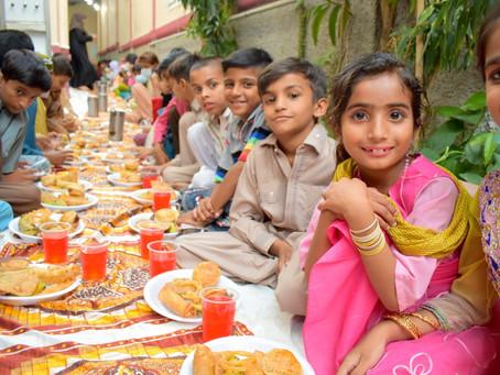HOPE Sponsors Sit-down Iftar for Karachi Urban Slum Home School Students