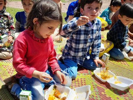 Kashmir Students Treated to Biryani/Juice Meal in Ramadan