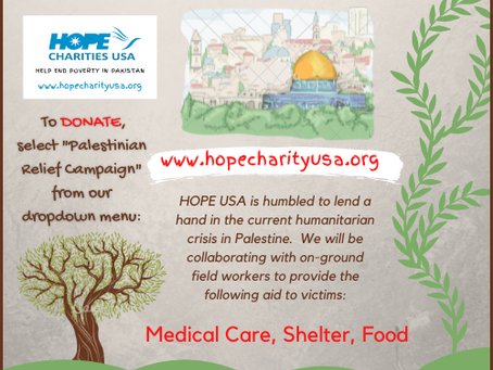HOPE USA Provides Medical Relief to Palestinian Victims