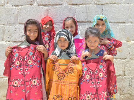 200 Students in Mujahid Colony Gifted Eid Clothes and Given Food Rations for Their Families