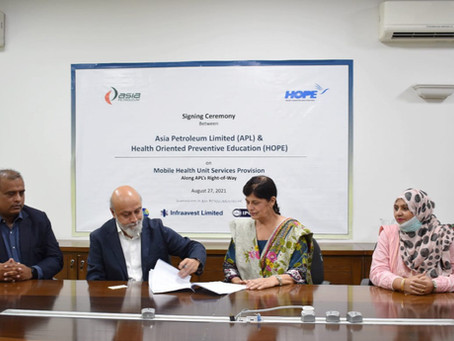 HOPE & Asia Petroleum Renew Contract for Village Healthcare
