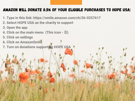 Amazon Will Donate 0.5% of Your Purchases to HOPE USA