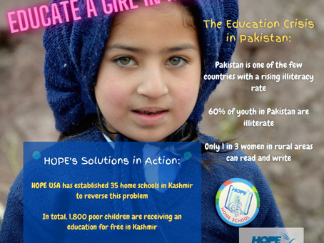 HOPE Tackles the Education Crisis in Pakistan
