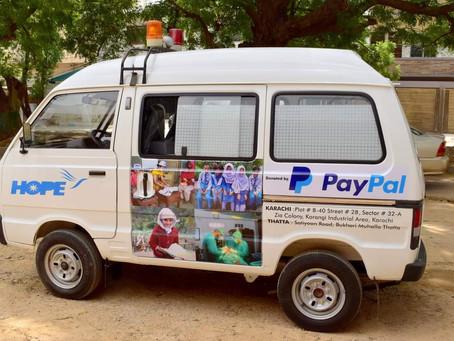 HOPE Awarded Ambulance via Paypal Grant