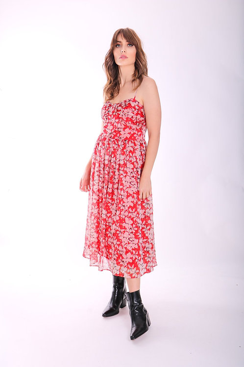 Traffic People Darcy in Chiffon Floral Red