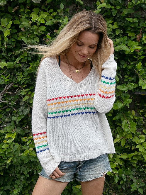 Wooden Ships Candy Hearts Pullover