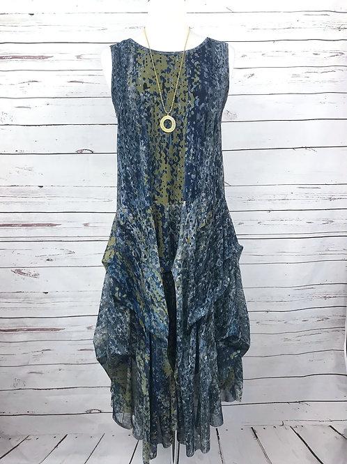 Kozan Martha Dress in Rain Print