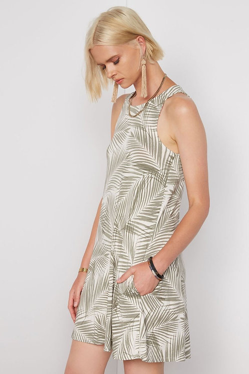 Tart Collection Arrow Dress in Palm Print
