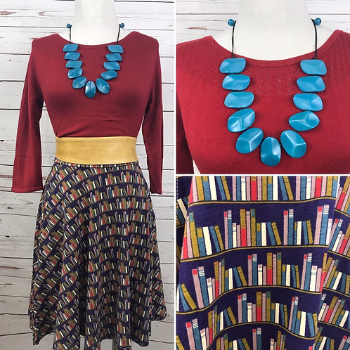 Effie's Heart Carnaby Skirt in Library Print