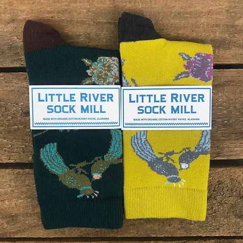 Little River Sock Mill Chinoiserie Crew