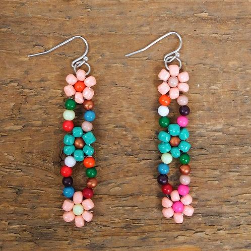 ZAD Spring Blossom Bead Earrings