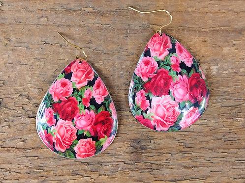 ZAD Rose Print Earrings