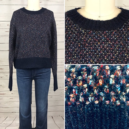 RD Style Crop Pullover in Navy Multi