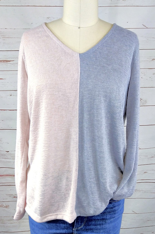 Nally and Millie Vneck Colorblock Pullover