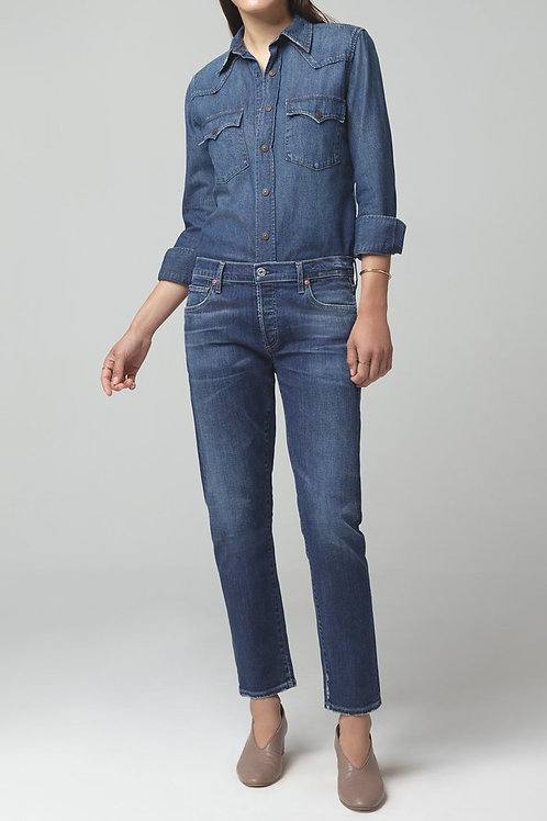 Citizens of Humanity Emerson Slim Fit Boyfriend Crop in Next to You