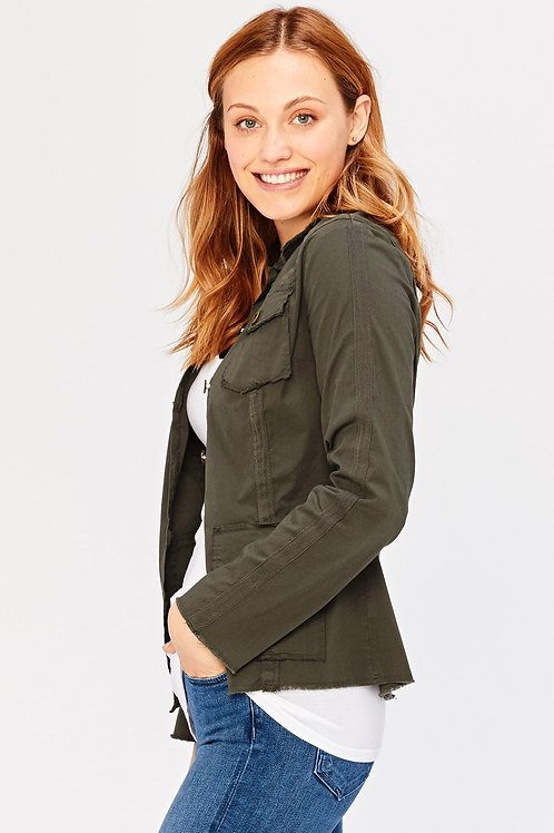 XCVI Wearables Raw Edge Safari Jacket in Hex