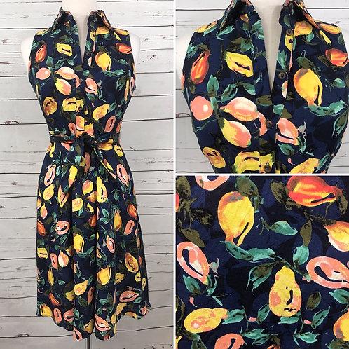 London Times Shirt Dress in Pear Print