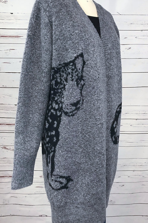 RD Style Mix Cat Cardigan in Grey