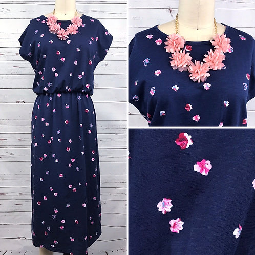 Joules UK Alma Midi Dress in Pansy Print
