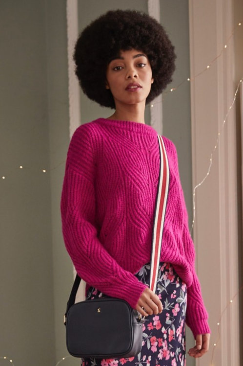 Joules Fluffy Pointelle Sweater in Pink